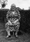 Annie Wiseman, landlady of the Knife & Steel Public house in Main Street, Pymoor.