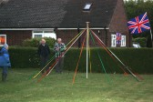 A Maypole was erected in the garden of 12, Pymoor Lane, Pymoor to celebrate the wedding of Prince William & Catherine Middleton 2011.