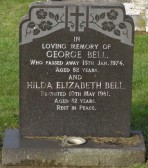 Grave of George & Hilda Bell of Pymoor in Little Downham Cemetery.