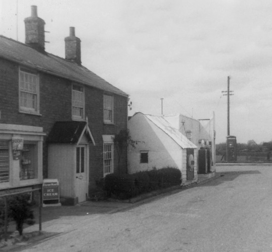 Barker's General Stores & Garage, Main Street, Pymoor, circa 1961.