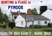 Some villagers in Pymoor decorated their houses with flags & bunting to celebrate the Diamond Jubilee of Queen Elizabeth II 2012.