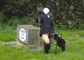 Horse Rider Scarecrow outside Fodder Fen Farm, Little Downham, Pymoor 2012.