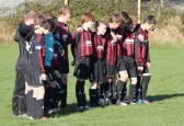 Pymoor FC Youth Team observe a 2 minute silence on Remembrance Day before their Charity Football Match 2012.