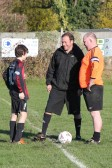 Tony Ure refereed the charity football match between Pymoor FC and their fathers, 2012