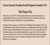 Extract from the Downham Parish Magazine about the Pymoor Tea and the entertainment provided.
