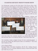 Article in the Downham, Pymoor & Coveney Parish Magazine about Charities benefiting from the Pymoor Show 2007.