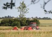 Jamie Butcher hay baling in a field off Pymoor Lane, Pymoor, 2013.