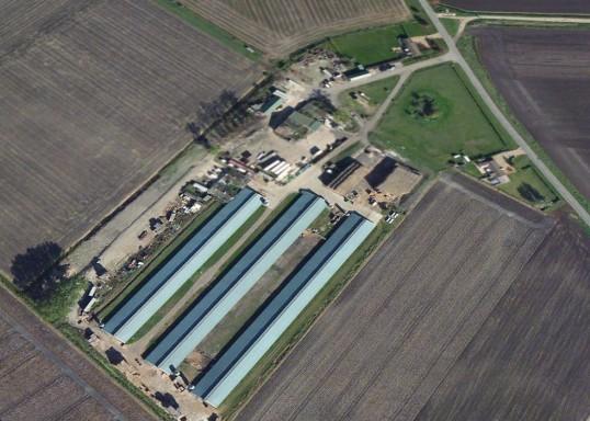 Mount Pleasant Farm from the air