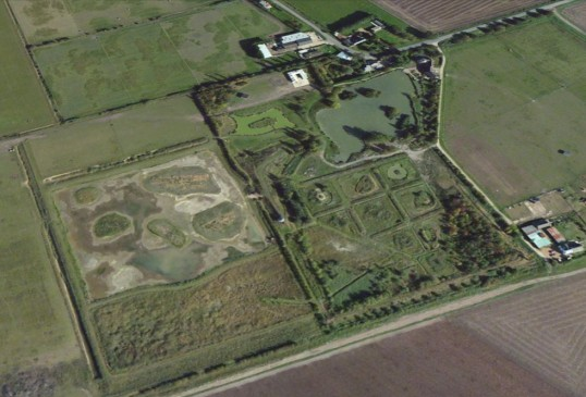 Widgeon House, Dunkirk, Pymoor, seen from the air 2010.