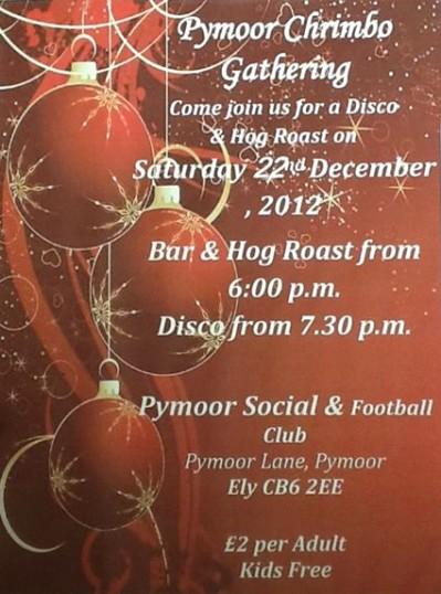 Pymoor FC held a Disco & Hog Roast Event 2012.