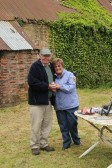 Cynthia Parson with Ray Ayres, one of the winners of the Charity Fishing Match at Oxlode Lakes 2013