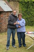 Cynthia Parson with one of the winners of the Charity Fishing Match at Oxlode Lakes 2013