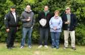 Wayne Bent & Cynthia Parson with the winners of the Charity Fishing Match at Oxlode Lakes 2013.
