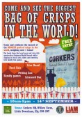 Corkers Crisps have created the biggest Bag of Crisps in the World