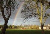 Rainbow over the Pymoor Cricket Club 2013