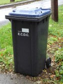 A new 'wheelie bin' used for the first time in Pymoor 2013