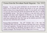 Extract from the Downham Parish Magazine - Nov 1913