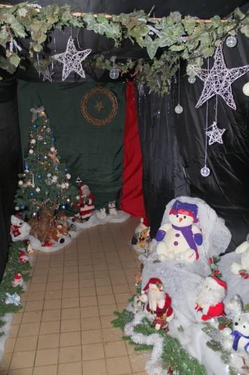 Santa's Grotto at the Pymoor Cricket & Social Club Christmas Bazaar 2013.