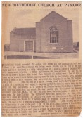 The new Pymoor Methodist Chapel, Pymoor 1954