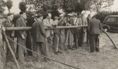 Garden Fete in Pymoor 1949.  Airgun Shooting Range.
