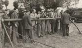 Garden Fete in Pymoor 1949.  Airgun Shooting Range.
