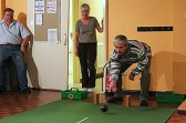 Carpet Bowls is played every Thursday evening in the Pymoor Social Club, 2006.