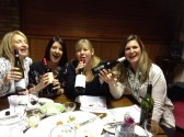 Ladies of Pymoor enjoying a Wine Tasting Evening at the Pymoor Cricket & Social Club. 2014.