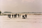 Pymoor villagers skating on the Welney Washes 1985