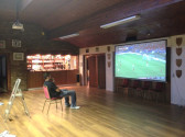 A projector and screen has been installed at the Pymoor Cricket and Social Club 2014.