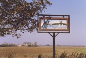 Pymoor Village Sign at the Crossroads in Pymoor (circa 1981)