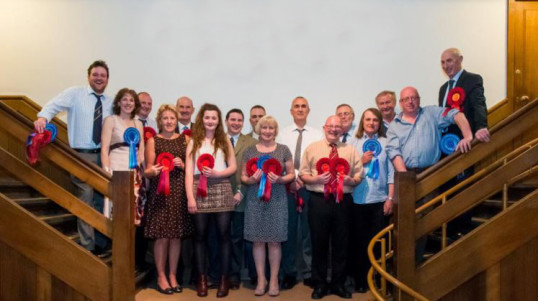 Prize Winners at the Pymoor Stockman Club's Annual Dinner 2014