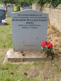 The grave of Ben Easey of Pymoor in Little Downham Cemetery