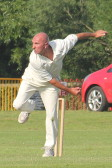 Kevin Jennings playing cricket for Pymoor CC 2014