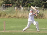 Steve Saberton playing cricket for Pymoor CC 2014