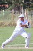 Steve Saberton playing cricket for Pymoor CC,2014