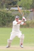 Daniel Godsmark playing cricket for Pymoor CC 2014