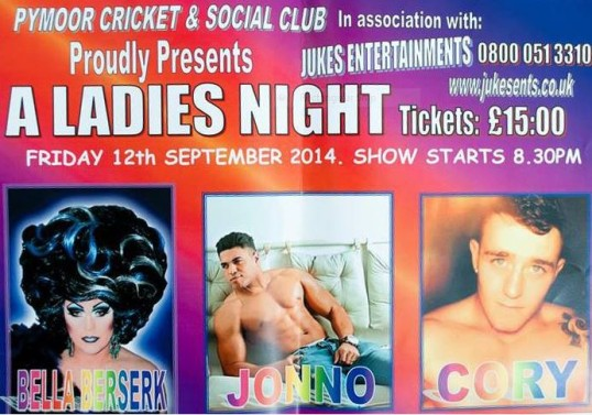 Pymoor Cricket and Social Club hosted a Ladies Night  (Female adults only) on Friday 12th September 2014.