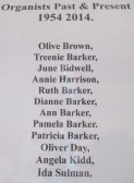 List of Pymoor Methodist Organists (1954 - 2014)