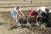 Richard Golding of Pymoor, taking part in a Ploughing Match, 2014.