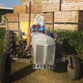 Scarecrow 'Basil', outside Willow Farm, Pymoor. 2014