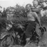 Bill Cornwell and Hubert Stevens in Pymoor, circa 1950
