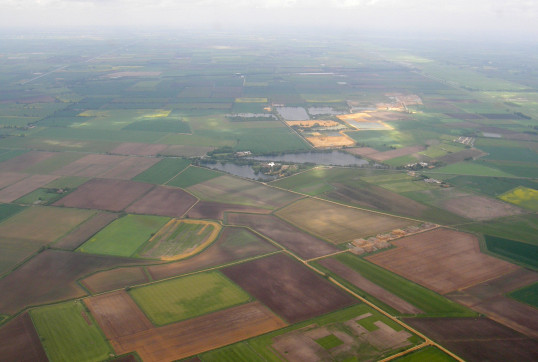 Aerial View of Pymoor, 2013