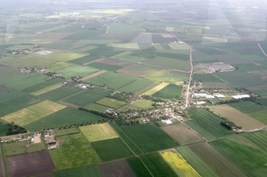 Aerial View of Pymoor, 2013