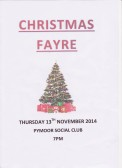 Pymoor Social Club Christmas Fayre, 2014
