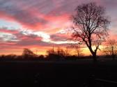 Sunrise in Pymoor, Jan 2014