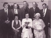 Pymoor Cricket and Social Club victorious Dominoes Team, Circa 1978