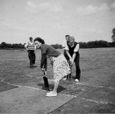 Pymoor Cricket Club's Concrete Wicket, circa 1950