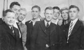 Eric Butcher, Dennis Baker, Hubert Stevens, Bob Winters, Derrick Godbold, Sam Kilby, Ron Saberton and Eddie Payton, circa 1950