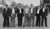 Eddie Payton, Bernard Kilby, Eric Hall, Ron Pearson, Derrick Godbold, Eric Butcher and Kitch Kent, circa 1950.