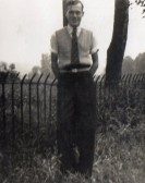 Derrick Godbold in Pymoor, circa 1950